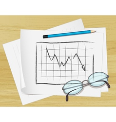 Planning Graph paper vector image