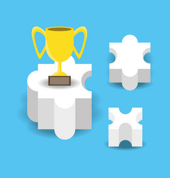 Planning ideas for achievement the first place vector