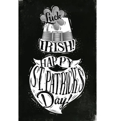 Poster St Patrick chalk vector