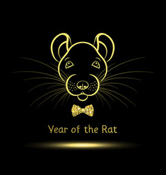 Rat symbol year vector