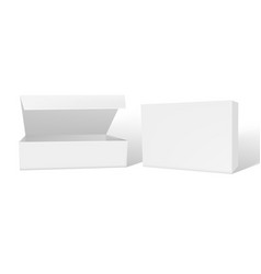 realistic open and closed blank big packaging vector image