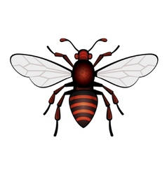 Red Bee Icon vector image