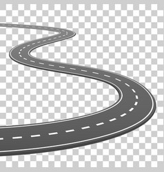 Road goes into horizon road on a vector
