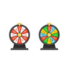 Set wheels fortune lottery luck vector