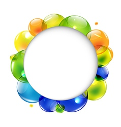 Speech Bubble With Color Balls vector image