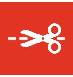 The scissors icon Cut here symbol Flat vector