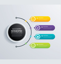 timeline 4 infographic design and marketing vector image