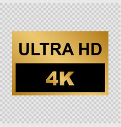 ultra hd label vector image