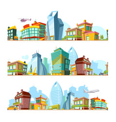urban seamless landscape city backgrounds vector image
