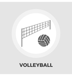 Volleyball icon flat vector