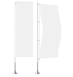 white textile banner flags banner flag mockups vector image
