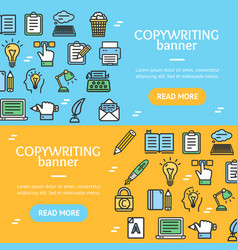 writer and copywriting signs banner horizontal set vector image