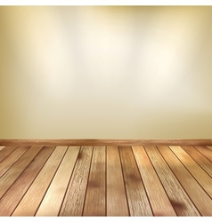 Beige wall with spot lights wooden floor eps 10 vector