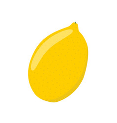 lemon in cartoon flat style ripe citrus fruit vector image
