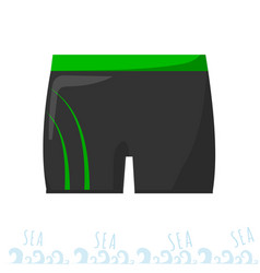 Mens swimming trunks swimming costume vacation vector