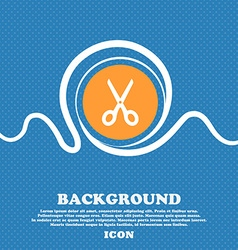 Scissors icon sign Blue and white abstract vector image vector image