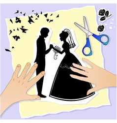 wedding scene vector image vector image