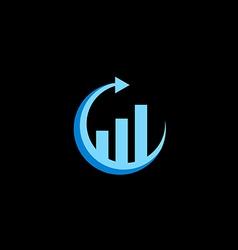 Business finance arrow chart logo vector