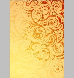 Elegant abstraction with floral swirls vector image