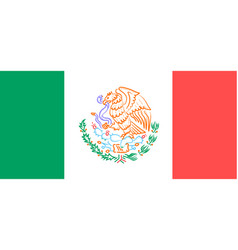Flag with the emblem of mexico vector