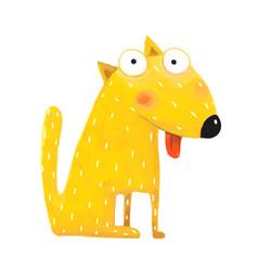 fun cute dog sitting vector image