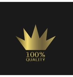 Golden quality icon vector image