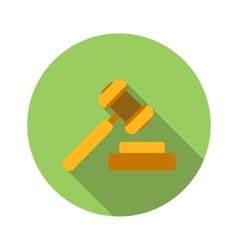 Hammer of justice flat icon vector image
