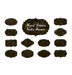 set of hand drawn vintage stickers frames vector image vector image