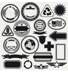 stamps templates vector image