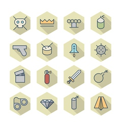 Thin Line Icons For Miscellaneous Items vector image vector image