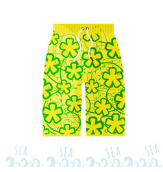 Beach bright men shorts in the style of the miami vector