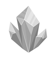 blue natural mineral icon in monochrome style vector image vector image