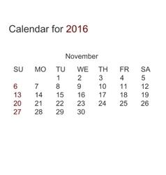 modern calendar for 2016 vector image