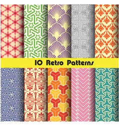 retro pattern unit collection 3 vector image vector image