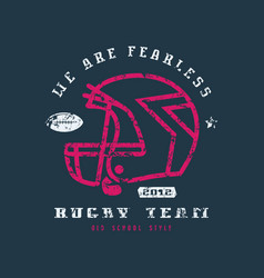 rugby team badge with shabby texture vector image