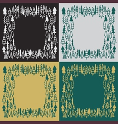 set background hand drawn pine forest vector image