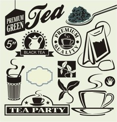 set for tea vector image vector image