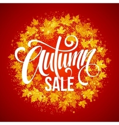 Autumn Sale The trend calligraphy Beautiful vector image vector image