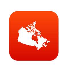 canada map icon digital red vector image vector image