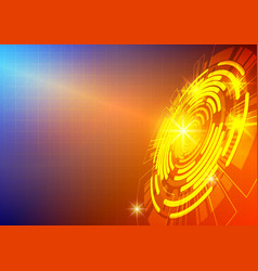 colourful circle and light technology abstract vector image