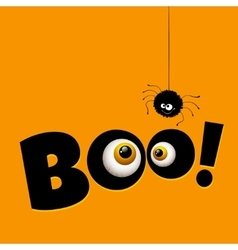 Funny Halloween greeting card monster eyes vector image