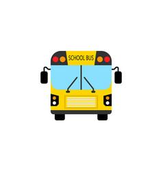 school bus flat icon student transport vector image