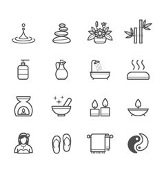 Spa icons vector image vector image