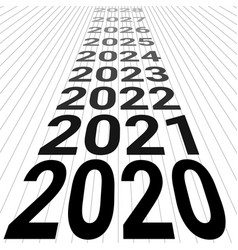 2020 new year banner background 3d perspective vector image