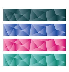 Abstract backgrounds low poly vector