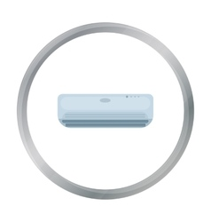 Air conditioner icon in cartoon style isolated on vector