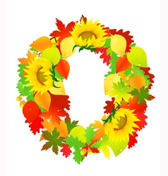 Autumn wreath vector