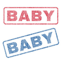 Baby textile stamps vector