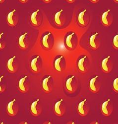 Banana on strawberry texture vector