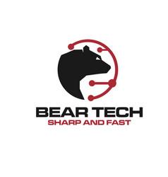 bear tech logo designs for care protection vector image